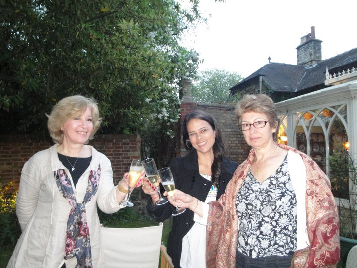 with Cecilia & Jill in the garden