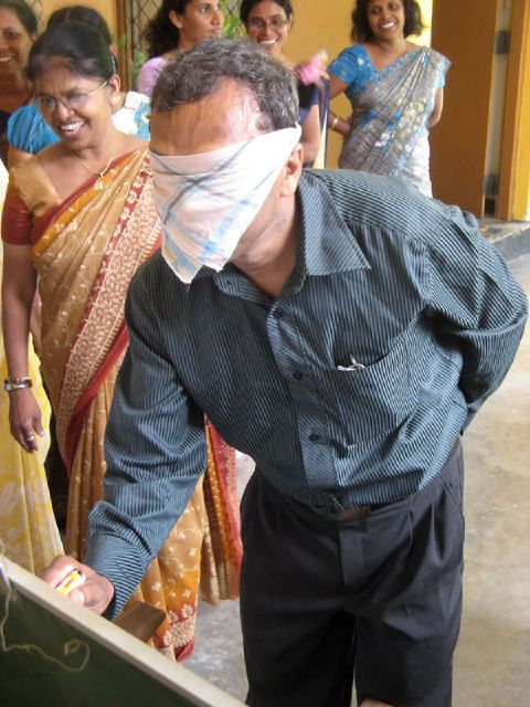 eltpics blindfolded teacher @CliveSir